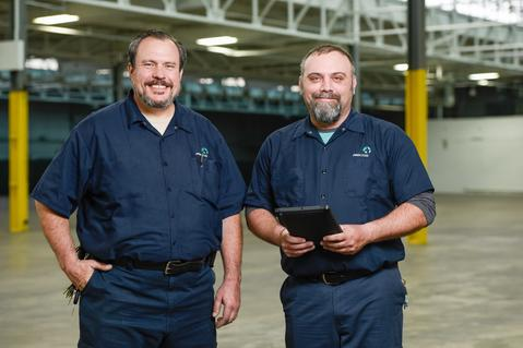 Chris Parker and Mike Dominik  Maintenance Technicians Chicago, Illinois